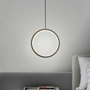 Suspension LED en métal acrylique version noire/blanche à 3 tailles