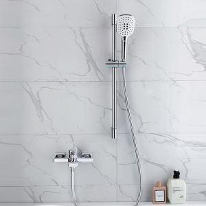 Robinet de baignoire mural chrome moderne douchette à main en ABS