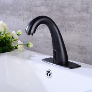 Robinet de lavabo capteur infrarouge couleur ORB rétro pour salle de bains