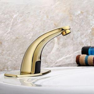 Robinet de lavabo capteur infrarouge intelligent en cuivre pour salle de bains