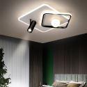 Plafonnier LED en acrylique avec 1 projecteur pour salon chambre à coucher