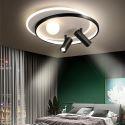Plafonnier LED moderne avec 2 projecteurs pour salon chambre à coucher