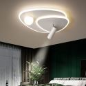Plafonnier LED moderne géométrique en aluminium acrylique multi-styles