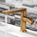 Mitigeur de lavabo en cuivre poignée simple H14,6cm pour salle de bains