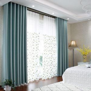 Rideau occultant en polyester couleur unie pour salon chambre à coucher, 7 modèles disponibles