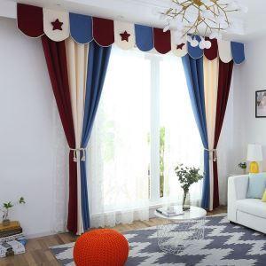 Rideau tamisant de couleurs mélangées en polyester sans tête de rideau pour chambre