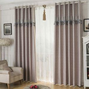 Rideau occultant en polyester en relief plante pour salon chambre à coucher, 3 couleurs au choix
