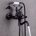 Robinet de baignoire mural en cuivre Noir ORB pour salle de bains