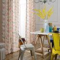 Rideau tamisant plante fleur imprimé en polyester coton pour salon chambre à coucher vendu à l'unité