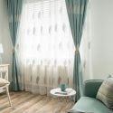 Rideau tamisant en coton lin broderie feuille pour salon chambre à coucher vendu à l'unité
