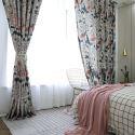 Rideau occultant en polyester coton impression pour salon chambre à coucher vendu à l'unité