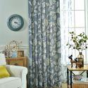 Rideau occultant plante imprimé en poly-coton pour salon chambre à coucher, 4 couleurs