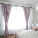 Rideau occultant écailles de poisson imprimé en poly-coton pour chambre à coucher, 4 couleurs