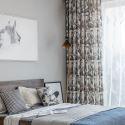Rideau occultant plante imprimé en polyester coton pour salon chambre à coucher vendu à l'unité