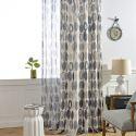 Rideau occultant en polyester coton imprimé cercle pour salon chambre vendu à l'unité