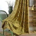 Rideau occultant en coton lin blé broderie pour salon chambre à coucher vendu à l'unité