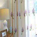 Rideau occultant en coton lin broderie plante pour salon chambre vendu à l'unité, 3 couleurs