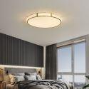Plafonnier LED rond en cuivre acrylique pour salon chambre à coucher, 3 tailles D30/40/50cm