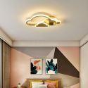 Plafonnier LED nuage en cuivre acrylique pour salon chambre bureau, 2 tailles
