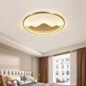 Plafonnier LED en cuivre acrylique pour salon chambre salle d'étude, 2 tailles D42/52cm
