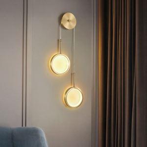 Applique murale LED en cuivre acrylique à 2 styles A/B 40W 3200 lumen pour salon chambre