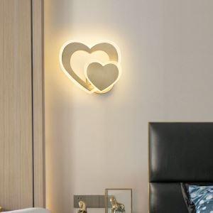 Applique murale LED en cuivre acrylique forme cœur 34W 2720 Lumen pour salon chambre couloir