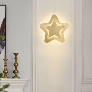 Applique murale LED en cuivre forme étoile abat-jour en acrylique 50W 4000 Lumen pour chambre couloir