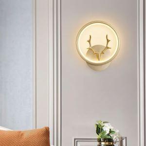 Applique murale LED en cuivre bois de cerf abat-jour en acrylique 26W 2080 Lumen pour chambre couloir
