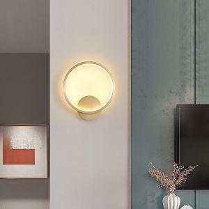 Applique murale LED en cuivre abat-jour en acrylique à 2 styles A/B pour salon chambre chevet