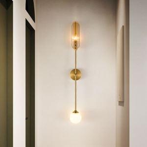 Applique murale LED en cuivre moderne à 2 modèles A/B pour salon bureau chevet