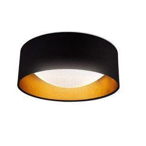 Plafonnier LED en métal acrylique noir or 12W 960 Lumen pour salon chambre