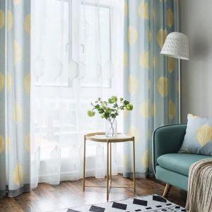Rideau tamisant d'impression de lemon en polyester pour salon chambre 1 pièce
