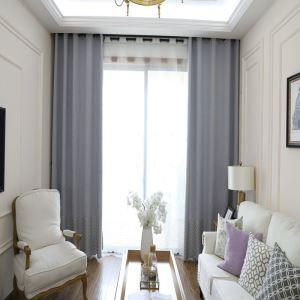 Rideau tamisant brodé de losanges en polyester pour salon chambre à coucher 1 pièce, 3 couleurs