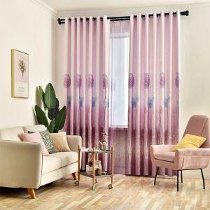 Rideau tamisant d'impression de pissenlits en coton lin pour salon chambre 1 pièce
