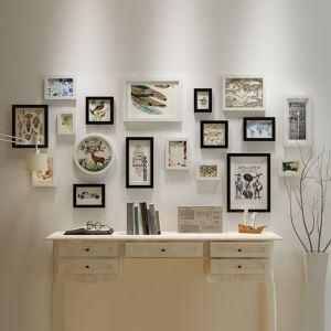 Cadre photo rétro en bois à 18 pièces pour salon chambre à coucher, style A/B