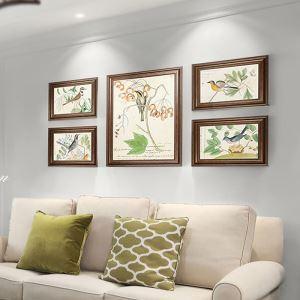 Cadre photo en bois à 5/6 pièces pour salon chambre à coucher
