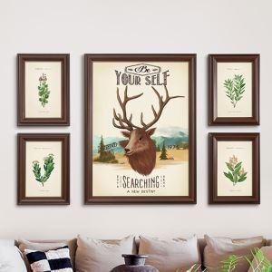 Cadre photo de décoration murale pour bureau salon chambre 5 pièces