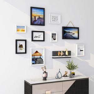 Cadre photo décoratif en bois pour salon bureau chambre à coucher, 5 styles