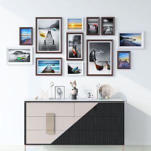 Cadre photo en bois à 12 pièces 4 styles pour salon bureau chambre à coucher