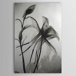 Peints 褠la main peinture 褠l'huile noir et blanc Floral 1210-FL0007