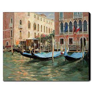 Main peint peinture à l'huile paysage Venise 1211-LS0192