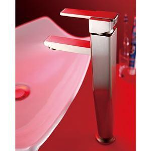 Robinet lavabo en laiton massif Nickel brossé pour salle de bain