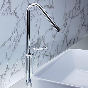 Robinet lavabo contemporaine en laiton (chromé)