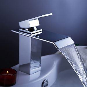 (Entrepôt UE) contemporaine robinet d'évier cascade salle de bains