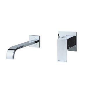 Robinet de lavabo chrome pour salle de bain murale