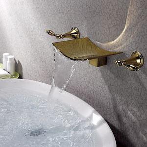 (Entrepôt UE) TI-PVD finition mural Robinet lavabo généralisée