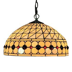 Tiffany suspension lustre à 2 Lampes en verre D40cm pour chambre salle à manger