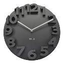Horloge murale 3D Nombre noir créative pour chambre salle