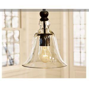 Lustre Campagne des Etats-Unis style caractéristique Pendentif en verre lampe suspendue