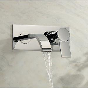 Mitigeur de lavabo laiton chromé L 17cm pour salle de bains